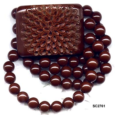 Semi-Sweet Chocolate Brown Bakelite Stretch Bracelet