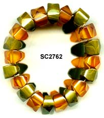 Marbled Green and Apple Juice Bakelite Bracelet
