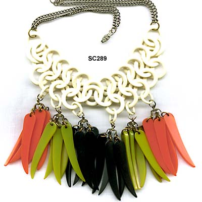 1930 to 1940's Bakelite Chili Peppers Necklace