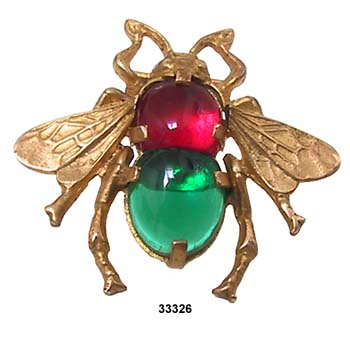 Vintage French Bee Dress Pin