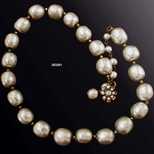 Miriam Haskell Niki Pearl Necklace Vintage 1950s