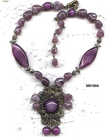 c. 1950s Miriam Haskell Glass Bead Necklace