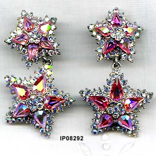 c. 1980 Thelma Deutsch Thelma Deutsch Pendant Star Earrings