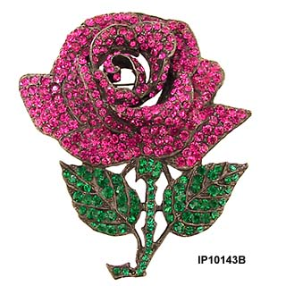c. 1980 Thelma Deutsch Rose Brooch