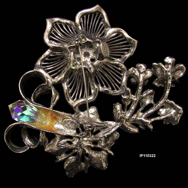 1980 to 1990 Thelma Deutsch Floral Brooch