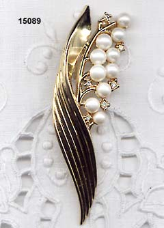 Vintage Trifari 1954 Alfred Philippe Lily Brooch