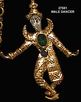 © KJL Balinese Dancers Pin/Pendant Necklace