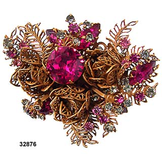 Vendome Filigree Floral Brooch