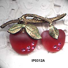 Austria Double Apple Fruit Pin