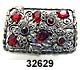 c. 1930s Silver, Marcasite & Red Glass Brooch