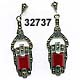 Sterling Carnelian Art Deco Earrings