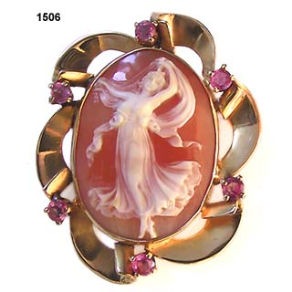 Diana, Goddess of Youth Shell Cameo