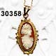 c. 1920 14KYG Shell Cameo Necklace