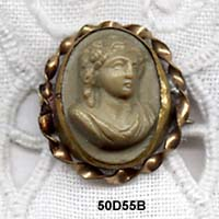 1885 to 1895 Olive Lava Cameo