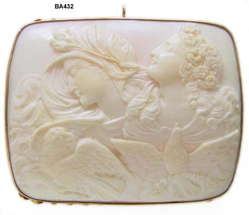 Late Victorian 3 Graces Shell Cameo