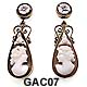 14 Karat Shell Cameo Earrings