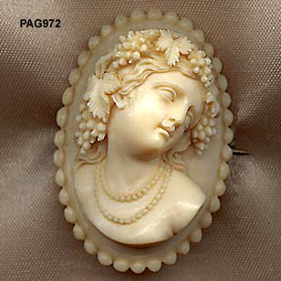 1870 to 1880 Antique Victorian Signed Ivory Cameo