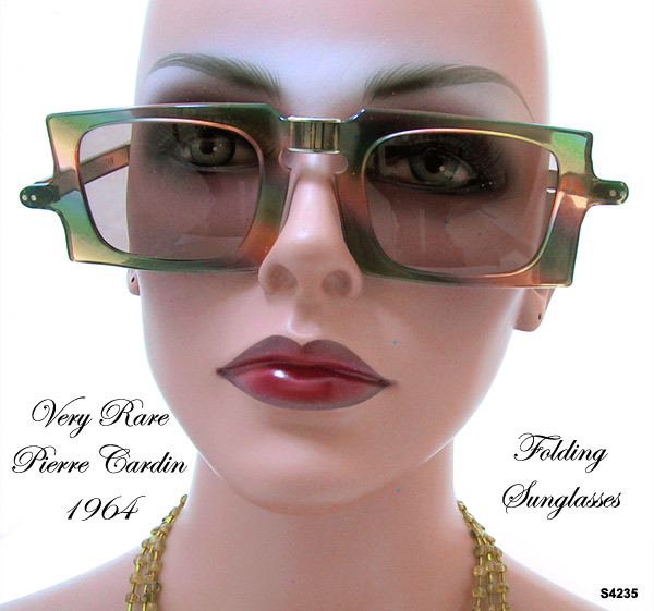 Rare Pierre Cardin Folding Sunglasses Vintage 1964