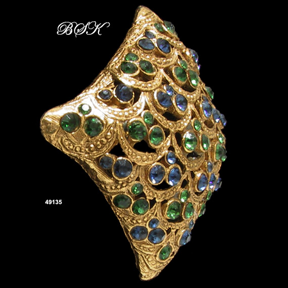 Vintage BSK Domed Gold-Plated Brooch
