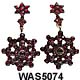 Victorian Bohemain Garnet Pendant Earrings