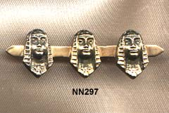 c 1880 18 Karat Victorian Pharoahs Head Bar Pin