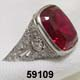 Edwardian Platinum, Diamond and Ruby Ring