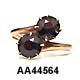 15 Karat Rose Gold Crossover Garnet Ring
