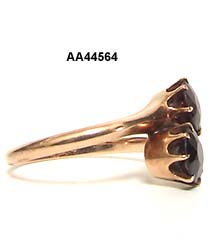 Victorian 15 Karat Rose Gold Garnet Crossover Ring