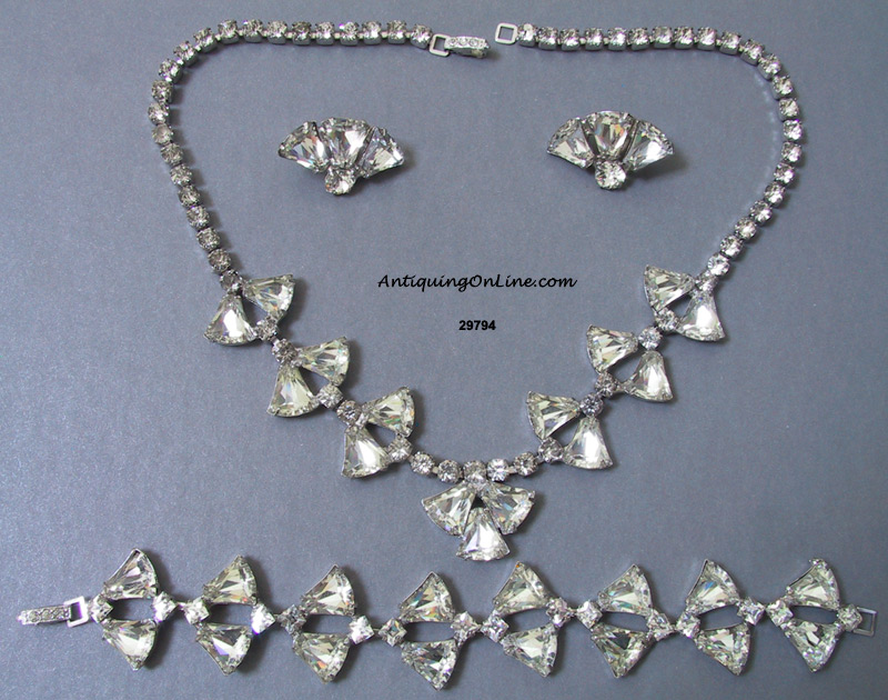 Vintage jewelry joseph wiesner new york parure for Antique jewelry stores nyc