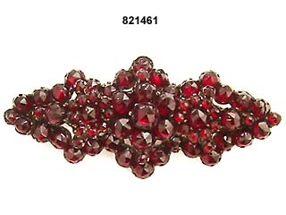 c. 1880 Victorian Rose Cut Garnet Pin