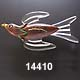 1930's Wood & Lucite Bird Pin