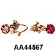 14 Karat Rose Gold Garnet Earrings