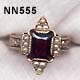 1881 Gold, Almandine Garnet and Pearl Ring