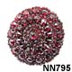 Bohemian Garnet and Silver Domed Brooch