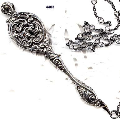 1900 to 1910 Sterling Lorgnette and Chain